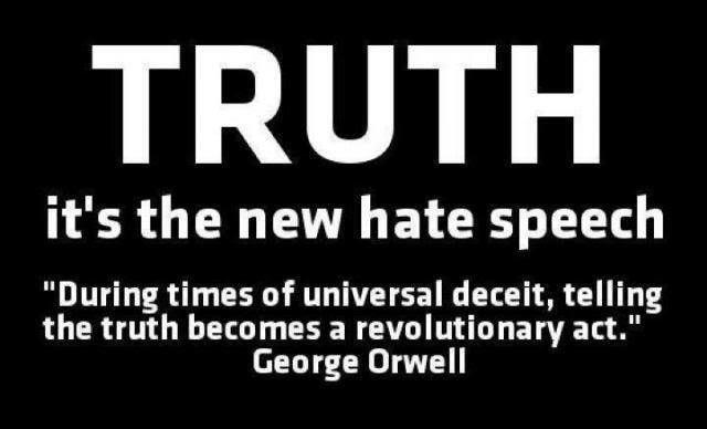 truthnewhatespeech orwell